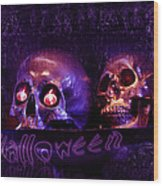 Halloween Party  Wood Print
