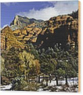 Hancock Ranch In The Wilderness Area Of Sedona Az  Wood Print
