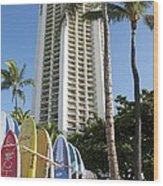 Hawaiian Surf Board's  Wood Print