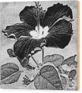 Hibiscus Art Wood Print