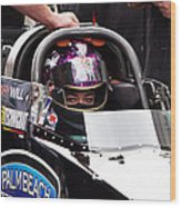 Hillary Will Las Vegas Motor Speed Way Strip Nhra Finals 2008 Wood Print
