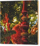 Holiday Decorations Wood Print
