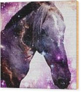 Horse In The Small Magellanic Cloud Wood Print by Anastasiya Malakhova