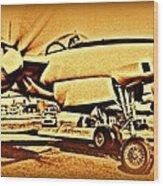 Howard Hughes And The Hughes Xf-11 Wood Print