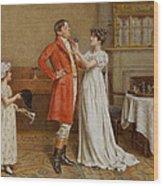 I Wish You Luck Wood Print by George Goodwin Kilburne