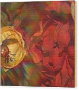 Impressionistic Bouquet Of Red Flowers Wood Print