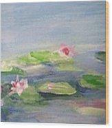 Impressionistic Lilies Monet Wood Print