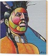 Indian Portrait Wood Print