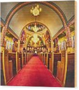 Interior Of  Holy Trinity Gre Wood Print