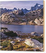 Island Lake And Wind River Range Wood Print
