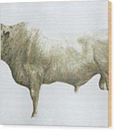 Islay Bull Wood Print