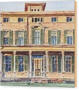 Italianate House Ny Wood Print