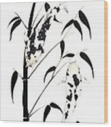 Japanese Koi Ginrin And Bekko Bamboo Painting Wood Print