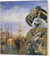 Japanese Spitz Art Canvas Print Wood Print