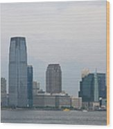 Jersey City Skyline Wood Print