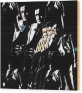 Johnny Cash Multiplied  Wood Print