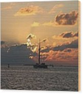 Marelous Key West Sunset Wood Print