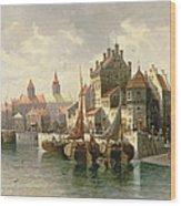 Kieler Canal Wood Print