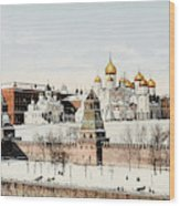 Kremlin  In Winter        Date 1908? Wood Print