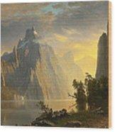 Lake In The Sierra Nevada Wood Print