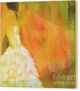 Last Dance Wood Print by Hilda Lechuga