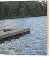 Left Boat Dock Wood Print