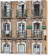 Lisbon - 18th Century Facade  Wood Print