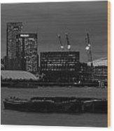 London Docklands Wood Print