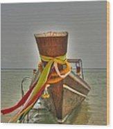 Long Tail Boat Wood Print