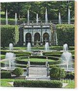 Longwood Gardens Fountains Wood Print