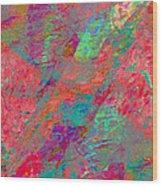 Magenta Poppy Rock Wood Print