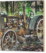 Mccormick Deering Tractor Wood Print
