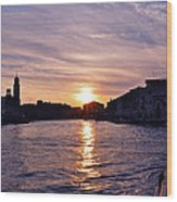 Mia Pervinca Murano Sunset  Wood Print