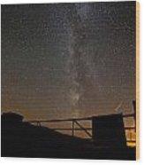 Milky Way Behind The Gate Wood Print