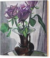 Morning Roses Wood Print