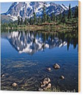 Mt. Shuksan Reflected In Picture Lake Wood Print