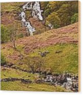 Nant Gwynant Waterfalls Iv Wood Print by Maciej Markiewicz