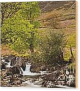Nant Gwynant Waterfalls Vii Wood Print by Maciej Markiewicz