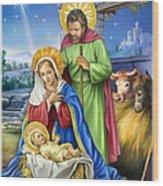 Nativity Of Jesus Wood Print