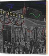 'neath Arizona Skies Homage 1934 California Powder Works  Congress Street Tucson Az Ca.1900 Wood Print