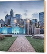 New Romare-bearden Park In Uptown Charlotte North Carolina Earl Wood Print