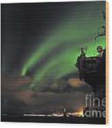 Northern Lights  Wood Print