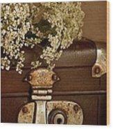 Old Suitcase Wood Print