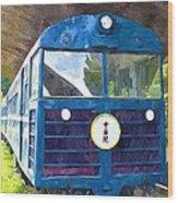 Old Train Wood Print