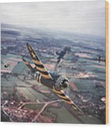 P47- D-day Train Busters Wood Print