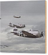 P47 Thunderbolt  Top Cover Wood Print by Pat Speirs