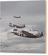 P47 Thunderbolt  Top Cover Wood Print