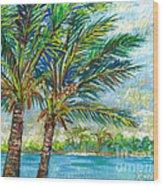 Palm Breezes Wood Print