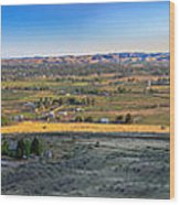 Panoramic Emmett Valley Wood Print