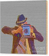 Paparazzi Wood Print by Edward Fielding